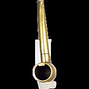 Corkscrew Brass Pipe Form Bottle Opener - Antique