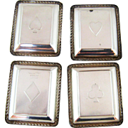 SALE Set Four Webster Sterling Silver Trays – Playing Card Suits