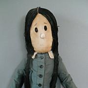 Rare 1960s Addams Family Wednesday Cloth Celebrity TV Doll