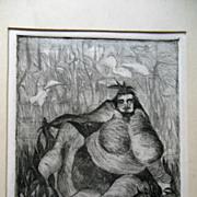 Original Modern Art Etching Jakob Rudolf Schellenberg 2/10