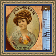 Vintage Wyco Vanity Pocket Mirror Powder Tin Compact