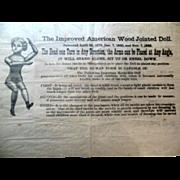 SALE PENDING Antique Mason Taylor Wood Doll Advertisement