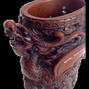 Old Asian Dragon Cinnabar Appearance Thailand Royal Electronic Fty Ltd Carving