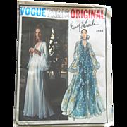 SOLD Mint Vintage Vogue PARIS GUY LAROCHE Evening Gown Dress Sewing Pattern uncut