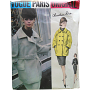 SOLD Chic Vintage Vogue CHRISTIAN DIOR Jacket Skirt Blouse Sewing Pattern uncut