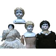 SOLD Antique China Doll Lot (4) excellent condition