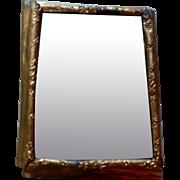 Antique Erhard & Söhne Ormolu Gold Dollhouse Miniature Picture Frame Mirror