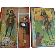 Antique Spears Bavaria INDIAN CHIEF SHOOTING GAME Cowboy Western Board Game