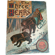 SOLD 1888 McLoughlin Three Bears Teddy Book Fabulous Color Lithographed Pages