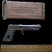 Vintage German SPITFIRE TOY Pistol Gun Cigarette Cigar Lighter in Original Box