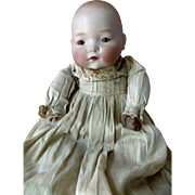 SOLD Antique Character Bisque Head Pouty Baby Doll for parts or repair in Elaborate Original C
