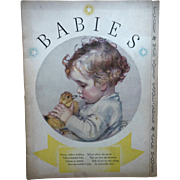 1933 Maud Tousey Fangel Illustrated Babies Book