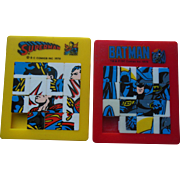 1970s Vintage Superman & Batman Sliding Squares DC Comics Puzzle Game