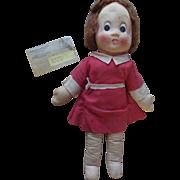 1920s Little Orphan Annie Comic Strip Cloth Celebrity Doll w Radio Premium Envelope