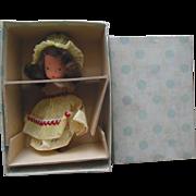 Nancy Ann Story Book Miss Muffet Doll Jointed Leg in original box