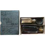 Antique Marsching's French Gold Paint for Ornamental Frame etc Guilding in Original Box