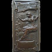 Antique Morpeth Camera Club YMCA 1906 Exhibition Bronze Art Nouveau Award