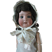 Antique German Bisque Little Girl Doll in Factory Chemise Mint Condition