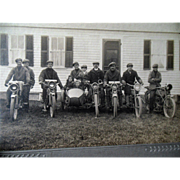 Vintage Harley-Davidson Motorcycle Photograph