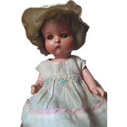 Early Vogue JUST ME German Character Bisque Doll Original Clothes Googly Side Glancing Sleep .