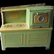 Vintage Electric Toy Range Tin Metal Stove Girard Model Works in Original Box 1930s