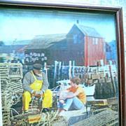 1969 Kodak Rockport Mass Lobster Trap 3D Photograph Art