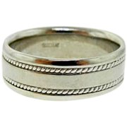 Estate Scott Kay 950 Palladium Eternity Wedding Ring Band