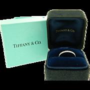 Authentic Tiffany Novo Platinum Diamond Wedding Anniversary Ring Band