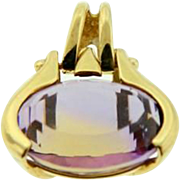 Estate 14 Karat Yellow Gold Ametrine Movable Pendant