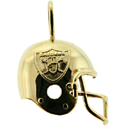 Estate 14 Karat Yellow Gold Raiders Helmet Pendant 1994 NFLP AFC Football