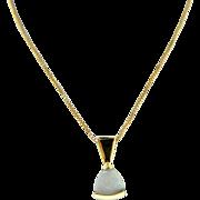 Estate 14 Karat Yellow Gold Opal Pendant