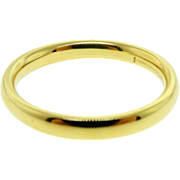 Estate Benchmark Comfort Fit 3 MM 18K Yellow Gold Wedding Ring Band