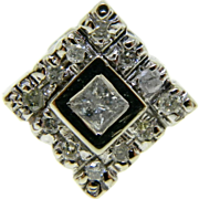 Estate 14K White Gold Diamond Slide Pendant