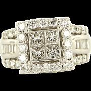 Estate 14k White Gold Princess Diamond Engagement Ring