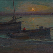 Charles John Dickman  Boats at Twilight