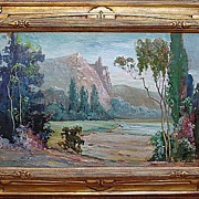 Benjamin C. Brown-Near the Merced River-15x24 oil