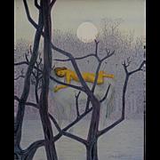 """Flavio E. Cabral  """"Moon's Shadow """"  30x24"""