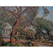 J. Berry Greene  The Village Road   26x34 oil on canvas