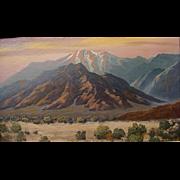 John Coultrup   Desert Sunset  12x20 oil on board