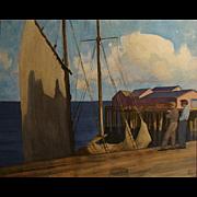 "Robert Wesley Amick  ""Docks near Monterey"""