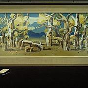 Milford Zornes-Cottonwoods-Mojave River-16x40