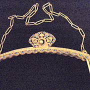 Jeweled Purse Frame with Stand Up Clasp- Trinity Plate