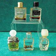 Five Vintage Miniature Commercial Perfumes