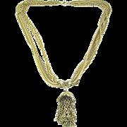 SALE KRAMER 4-Strand Chain Necklace with Slider Tassel Pendant