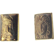 Simmons Tiger Eye High Relief Cameo Cufflinks Different Cameos Look mythology