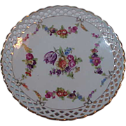 Schumann Bavaria Dresden  Reticulated Pierced Compote