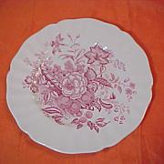 8 Royal Doulton The Kirkwood Pink / Red  8 1/2 inch Plates Set Salad Desert Plate