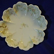 REDUCED Limoges  Haviland France Beautiful Scallop Edge Roses Bowl