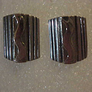 REDUCED Handmade Sterling Silver 925 & 14K Gold Navajo MM Rogers Post Earrings