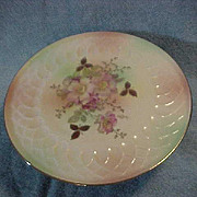 "Vintage Floral Footed Cake Plate Marked Schumann Arzberg 12 ""Across Stunning"